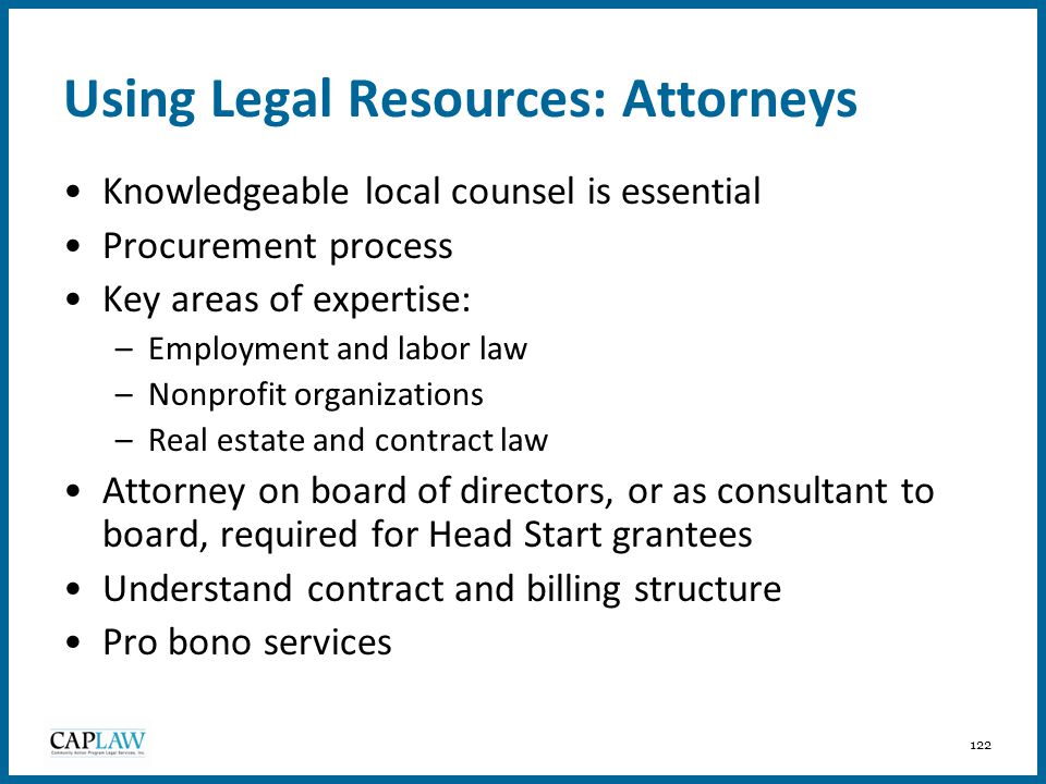 Using Legal Resources: Attorneys