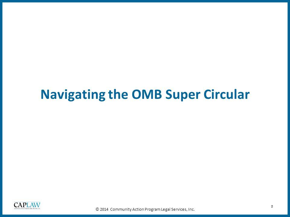 Navigating the OMB Super Circular