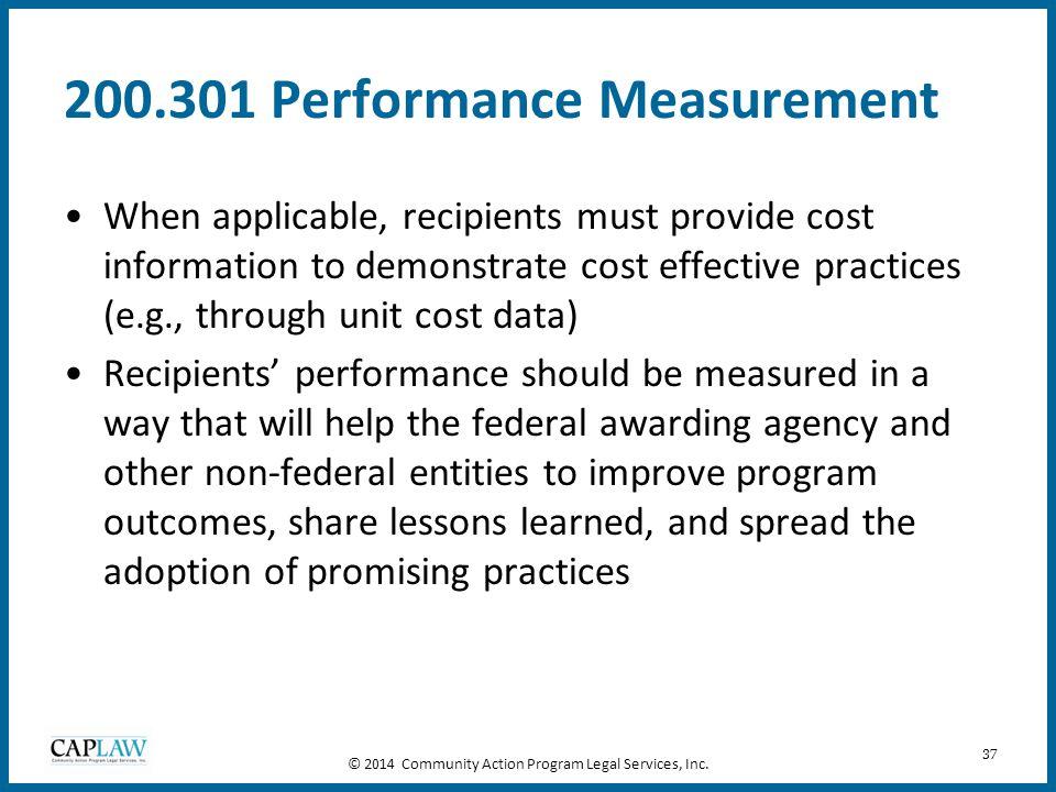 200.301 Performance Measurement