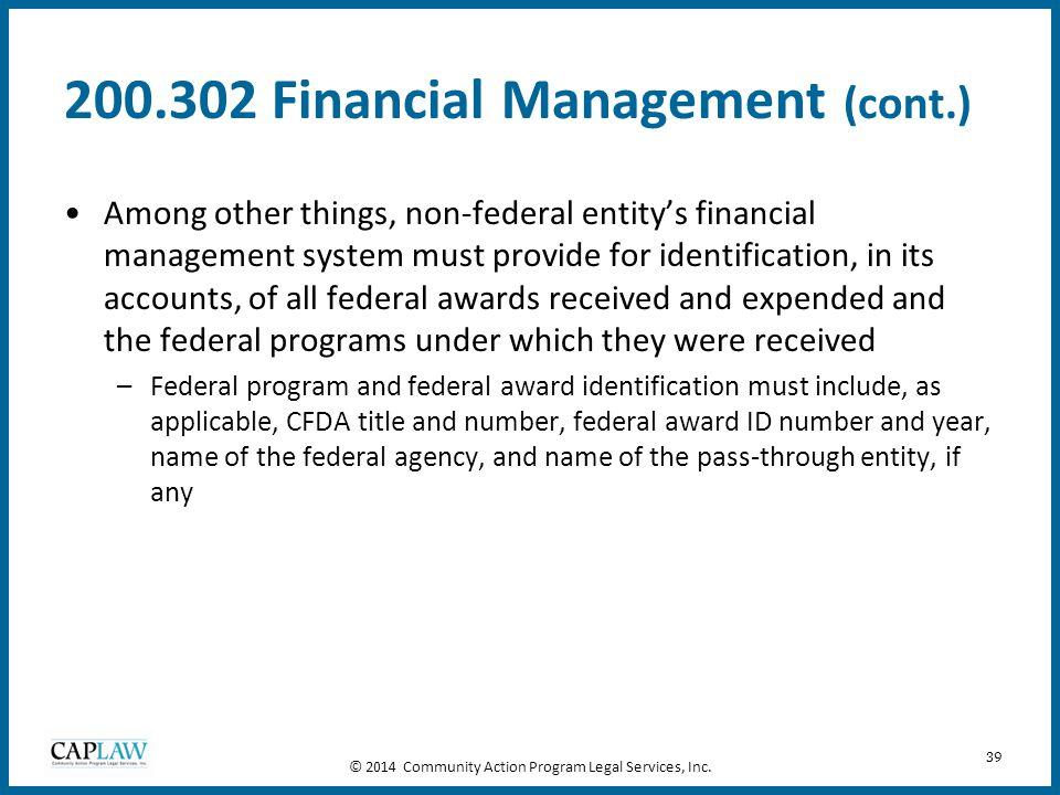 200.302 Financial Management (cont.)