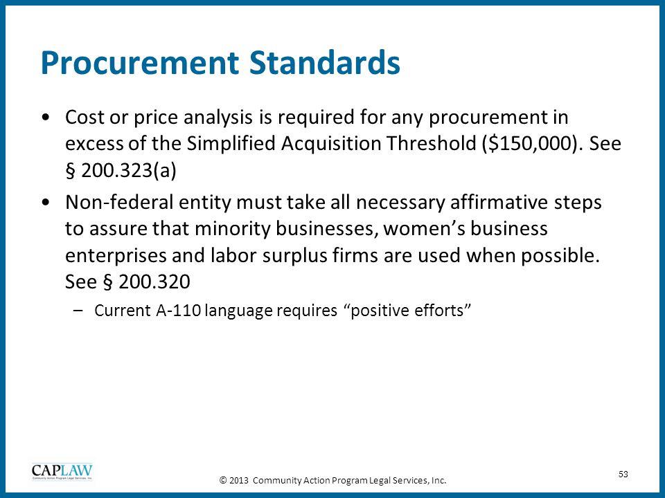 Procurement Standards