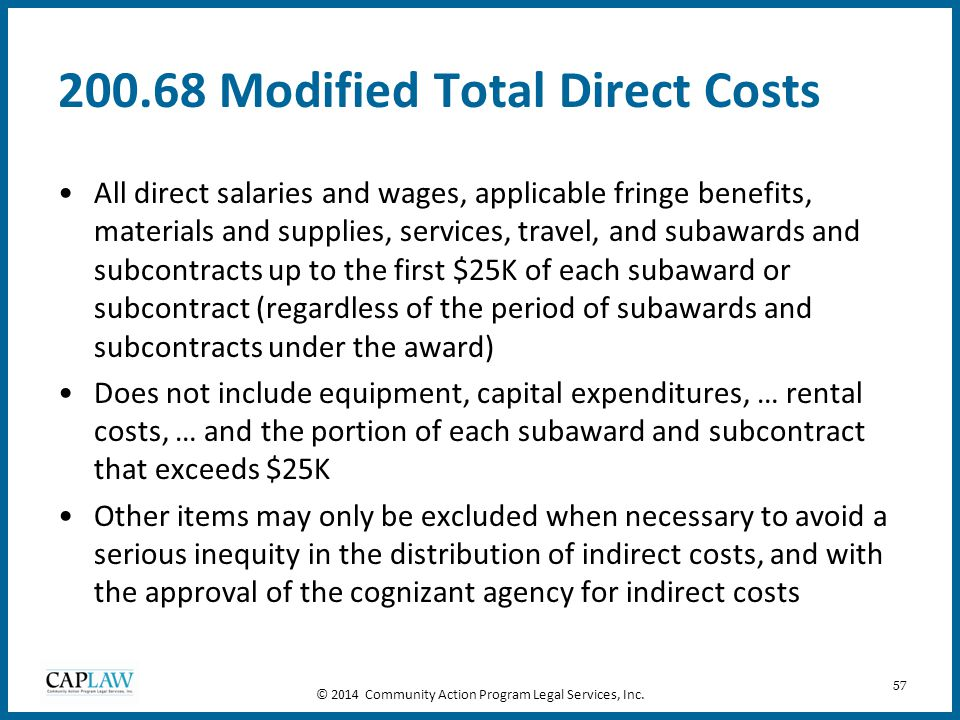 200.68 Modified Total Direct Costs