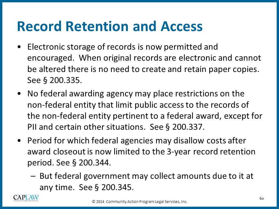 Record Retention and Access