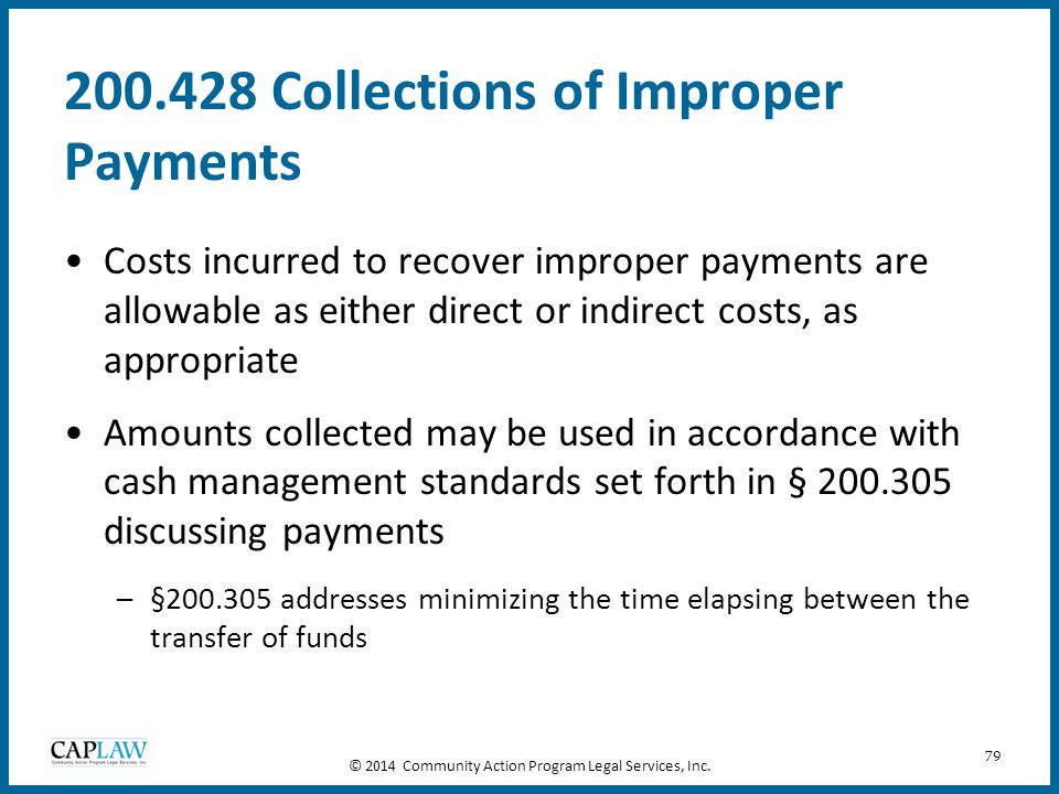 200.428 Collections of Improper Payments