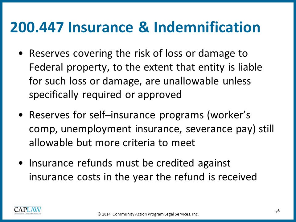 200.447 Insurance & Indemnification