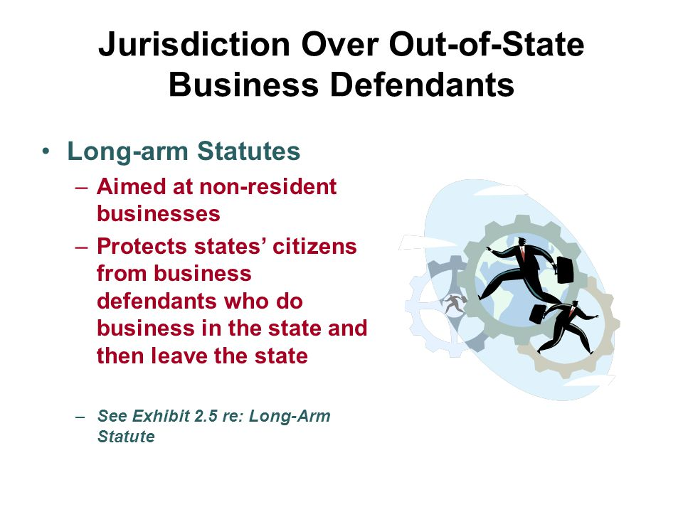 Jurisdiction Over Out-of-State Business Defendants