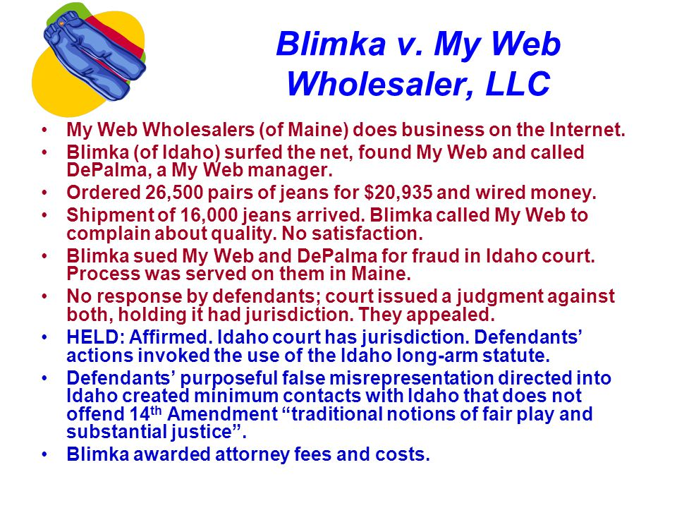 Blimka v. My Web Wholesaler, LLC