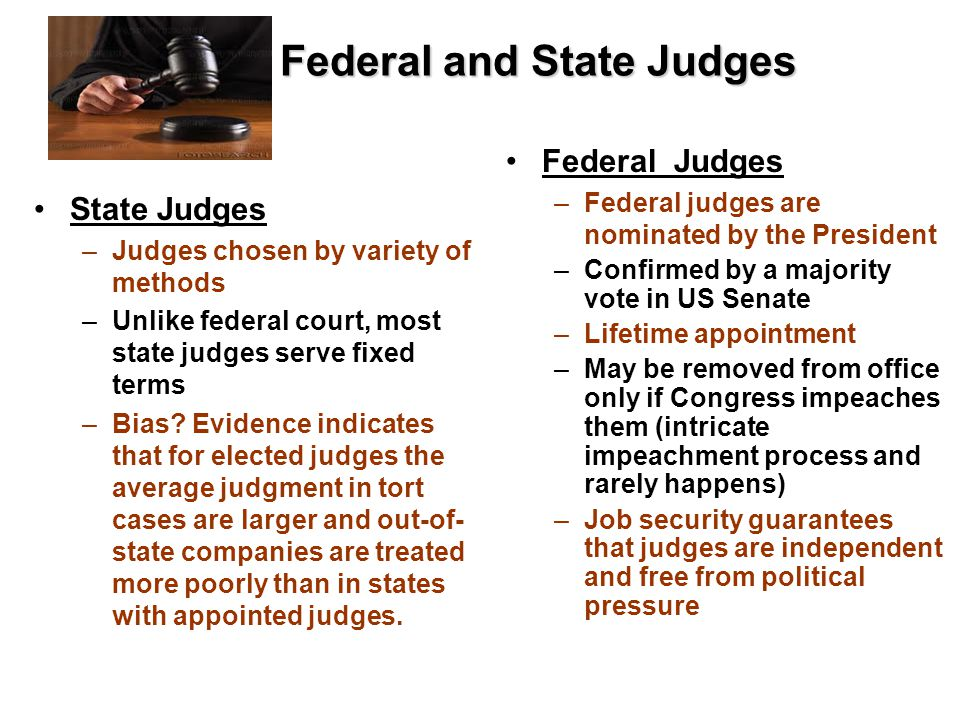 Federal and State Judges