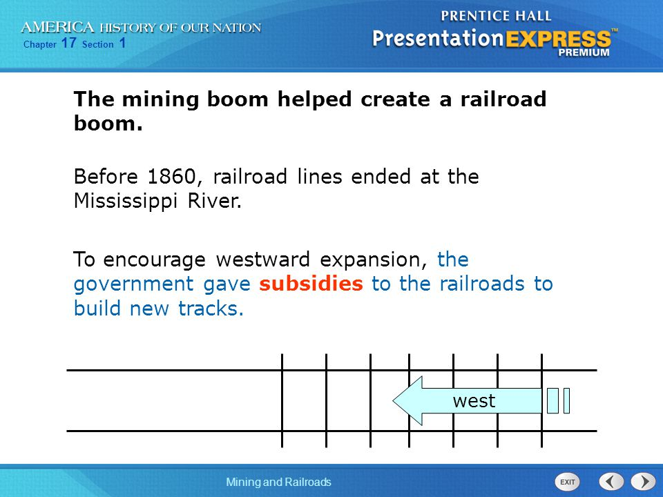 The mining boom helped create a railroad boom.
