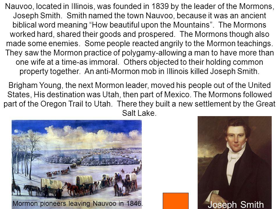 Mormon pioneers leaving Nauvoo in 1846.