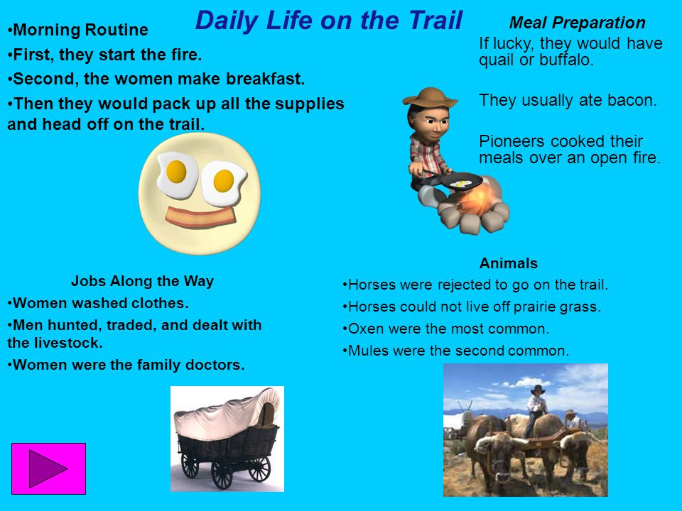 Daily Life on the Trail Morning Routine Meal Preparation