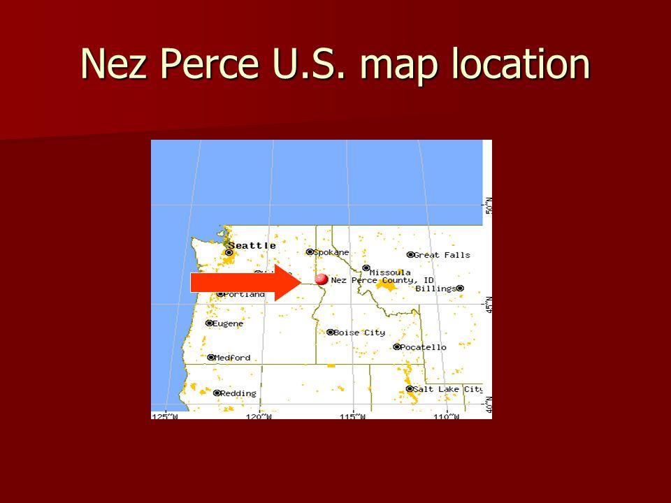 Nez Perce U.S. map location