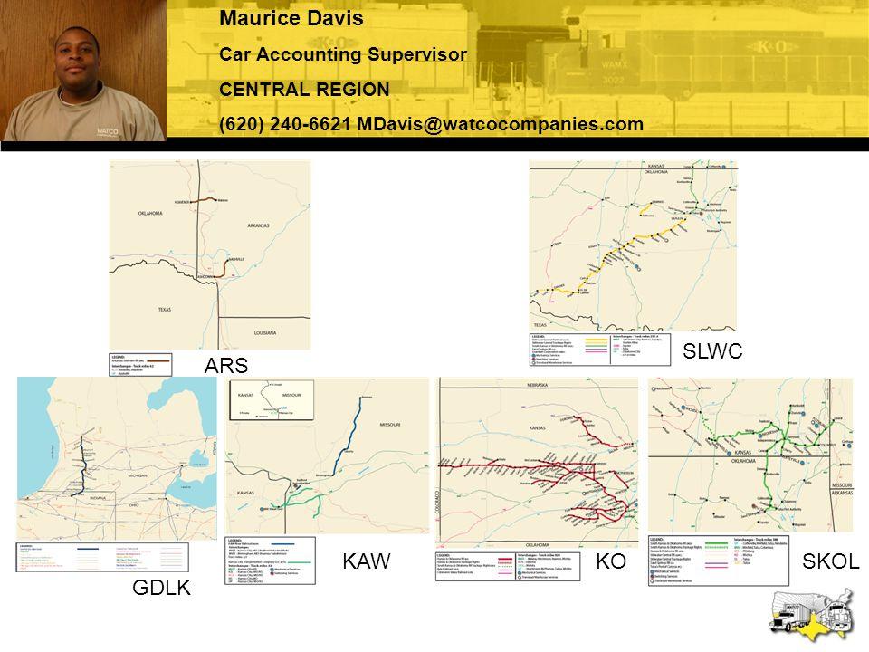 Maurice Davis SLWC ARS GDLK KAW KO SKOL Car Accounting Supervisor