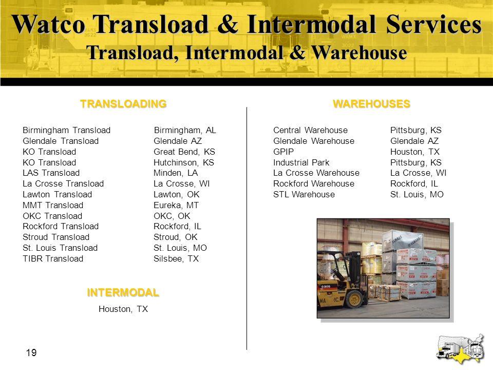 Watco Transload & Intermodal Services