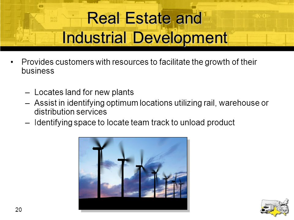 Real Estate and Industrial Development