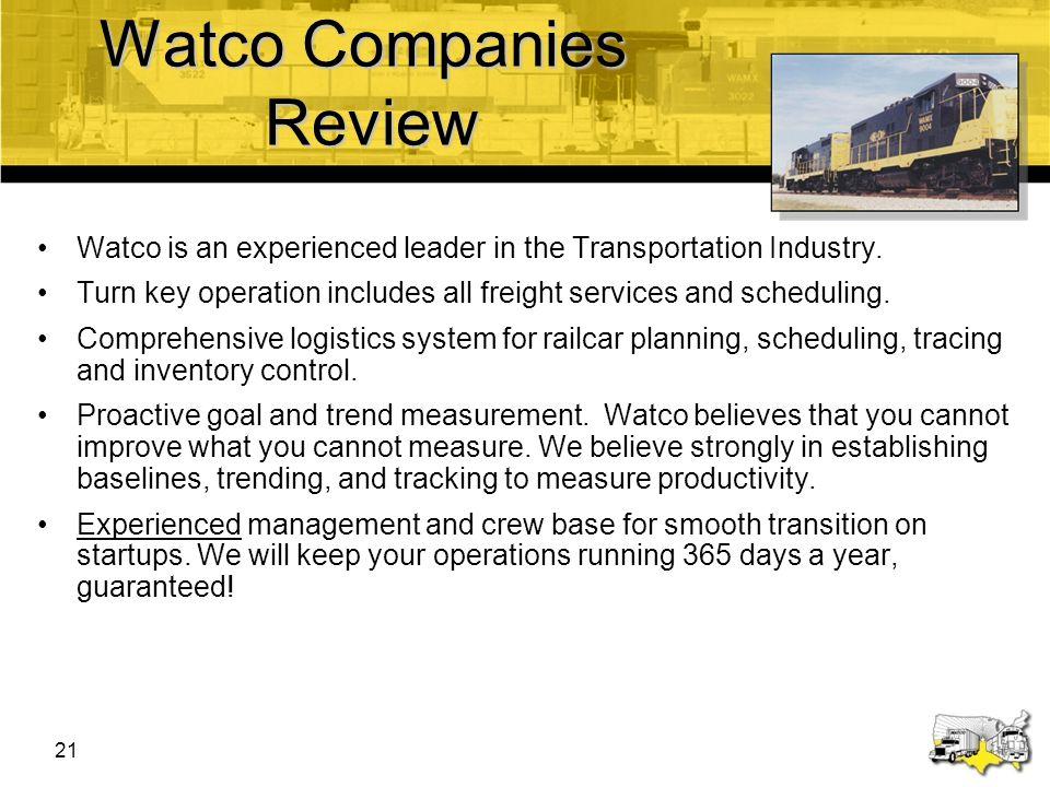 Watco Companies Review