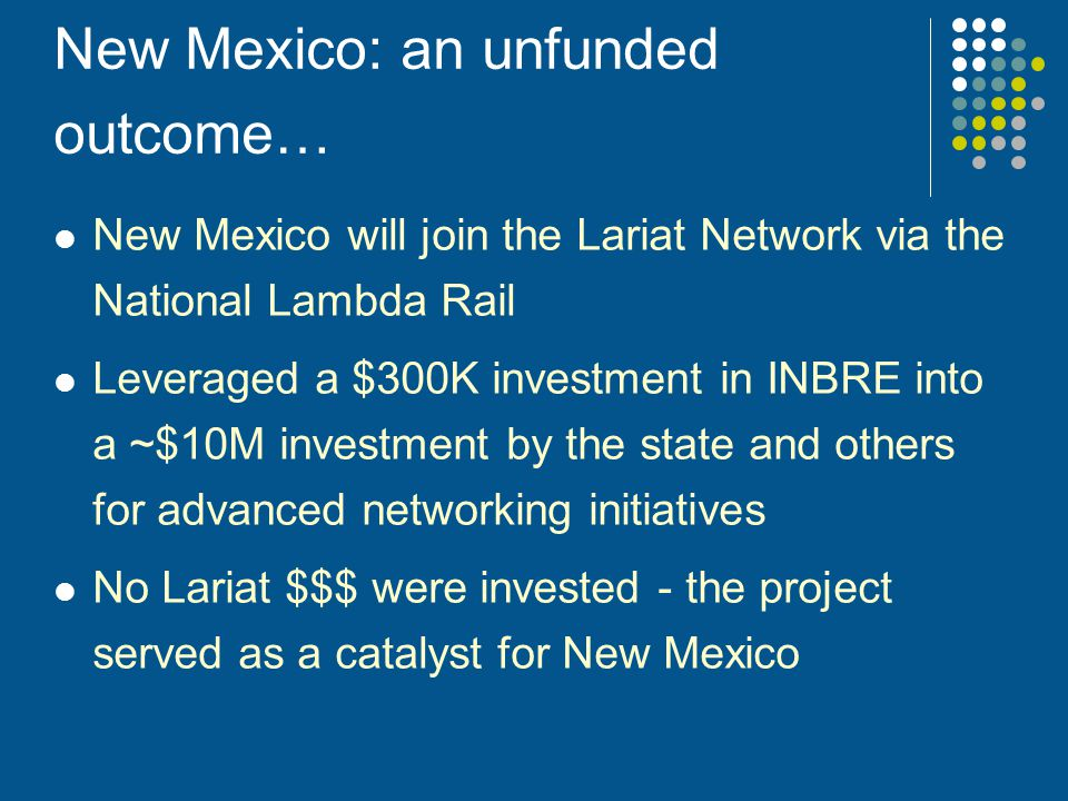 New Mexico: an unfunded outcome…