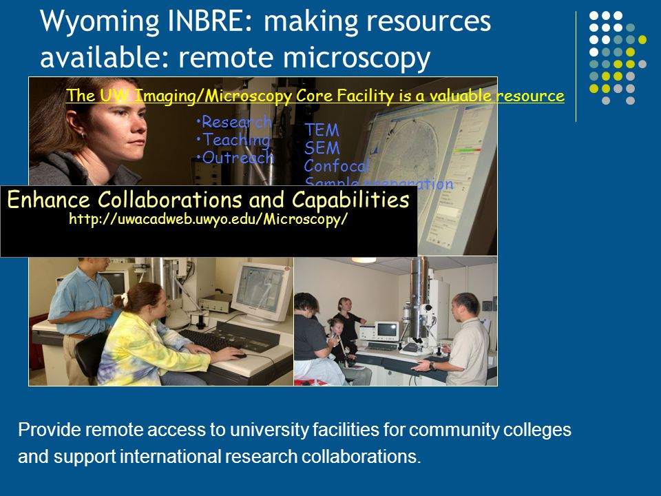 Wyoming INBRE: making resources available: remote microscopy