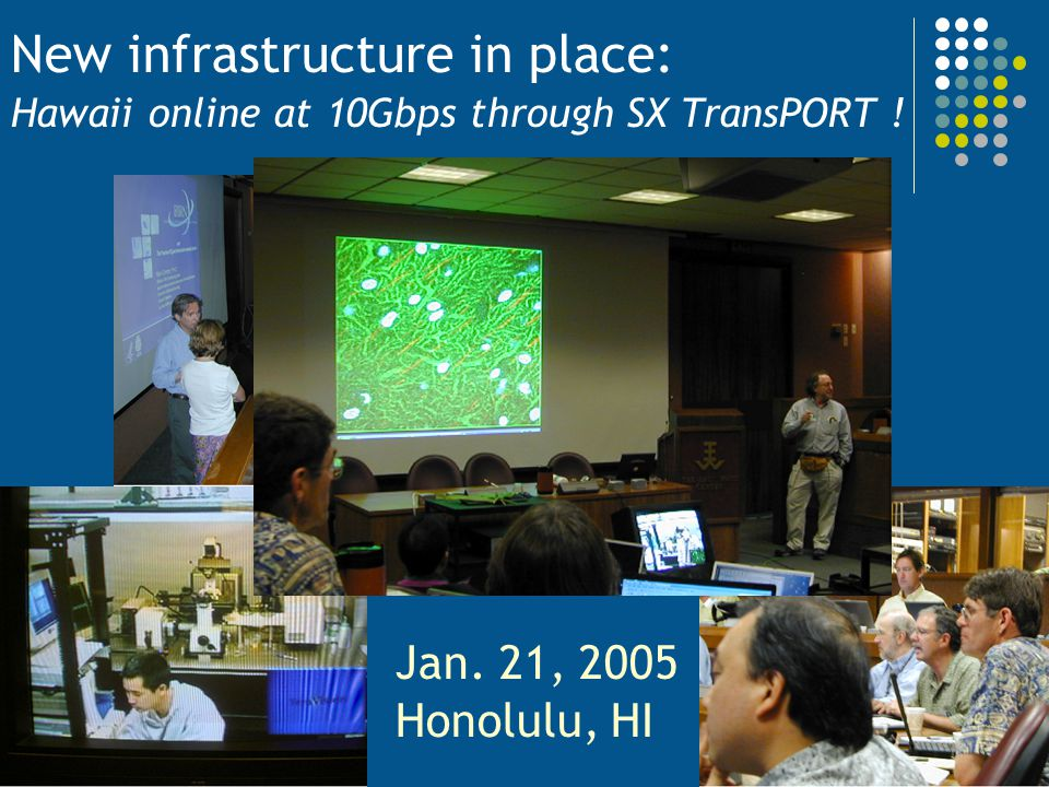 New infrastructure in place: Hawaii online at 10Gbps through SX TransPORT !