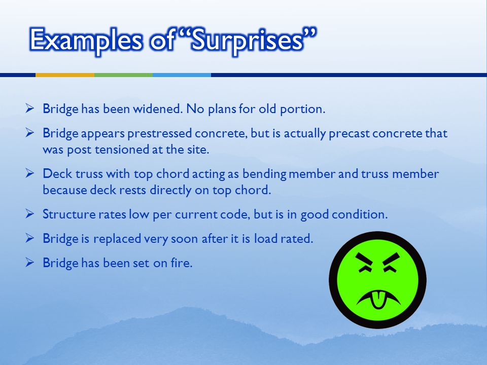 Examples of Surprises