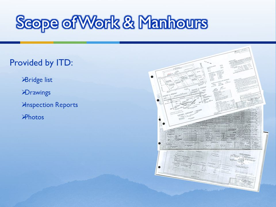 Scope of Work & Manhours