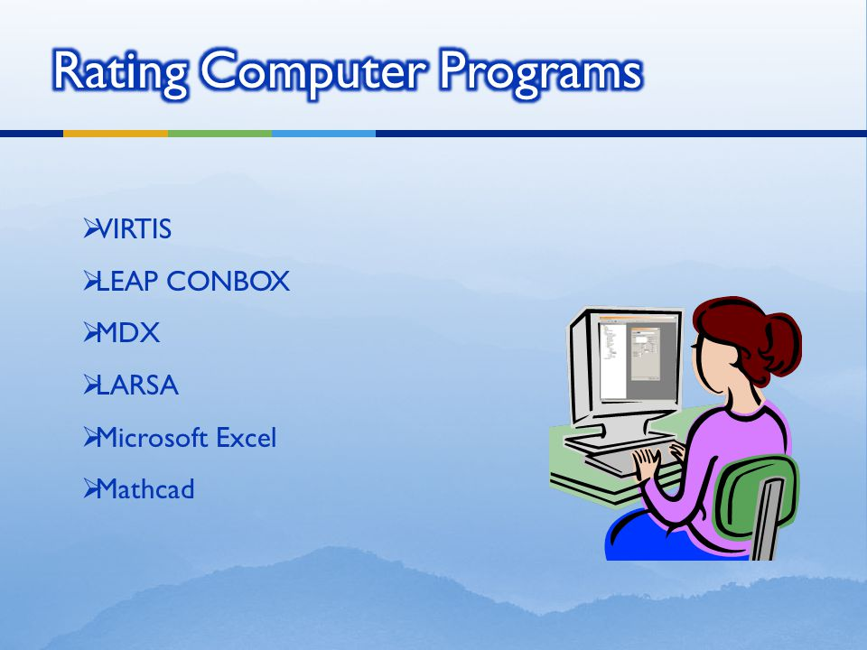 Rating Computer Programs