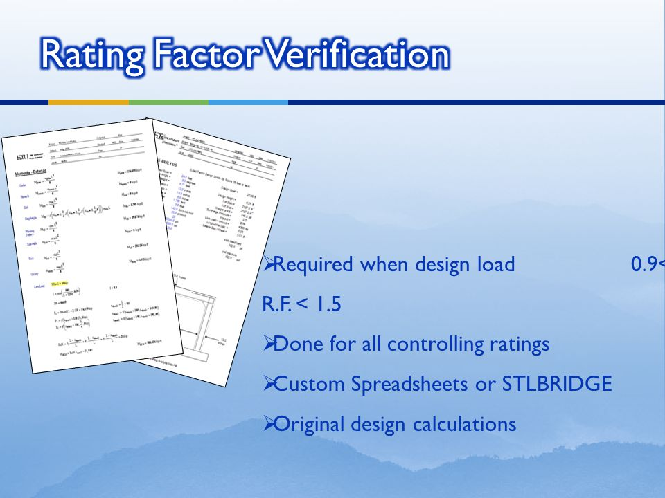 Rating Factor Verification