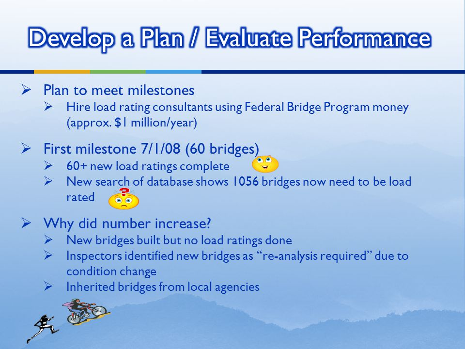 Develop a Plan / Evaluate Performance