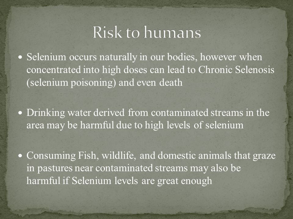 Risk to humans