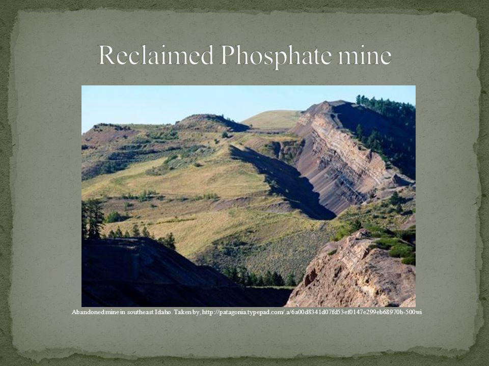 Reclaimed Phosphate mine