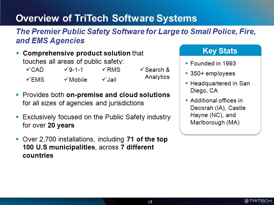 Overview of TriTech Software Systems