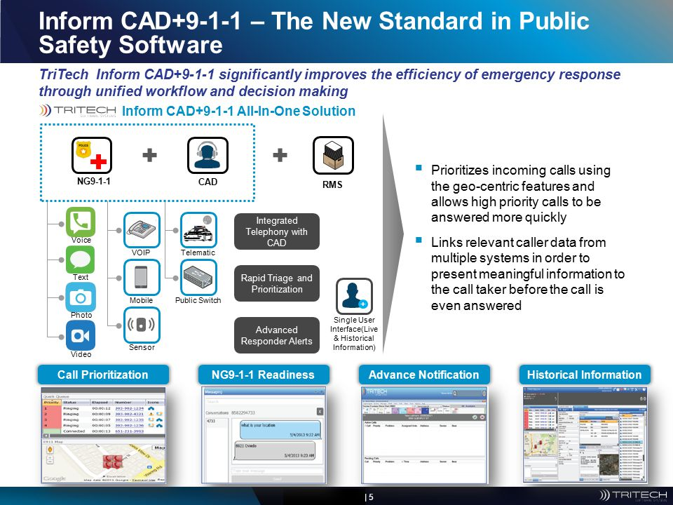 Inform CAD+9-1-1 – The New Standard in Public Safety Software