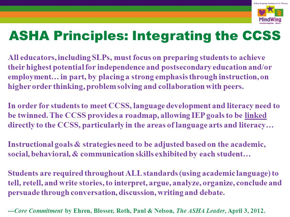 CCSS Call Students Must Develop Communicative Competence
