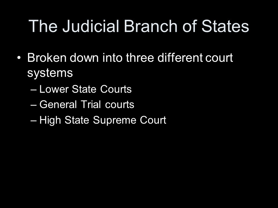 The Judicial Branch of States