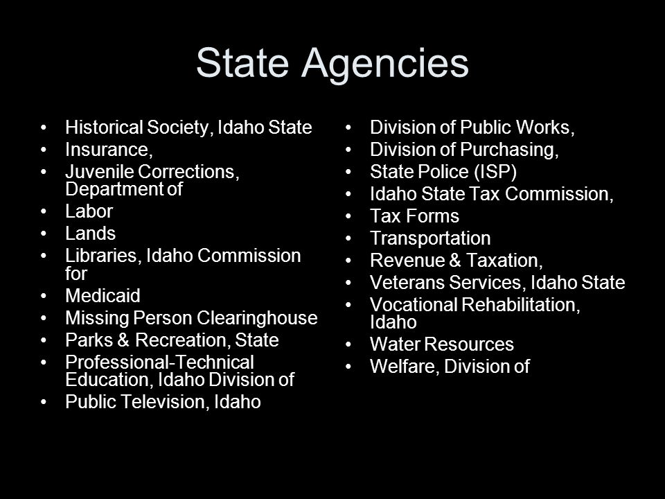 State Agencies Historical Society, Idaho State Insurance,