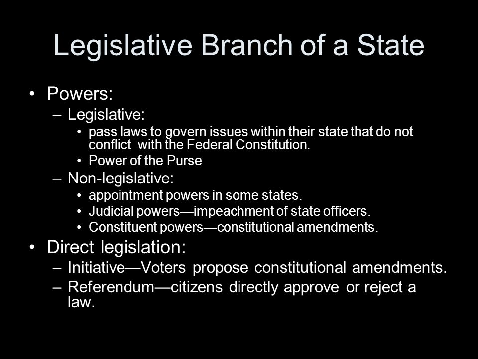 Legislative Branch of a State