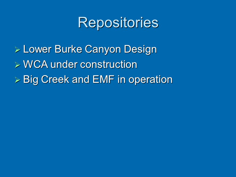 Repositories Lower Burke Canyon Design WCA under construction