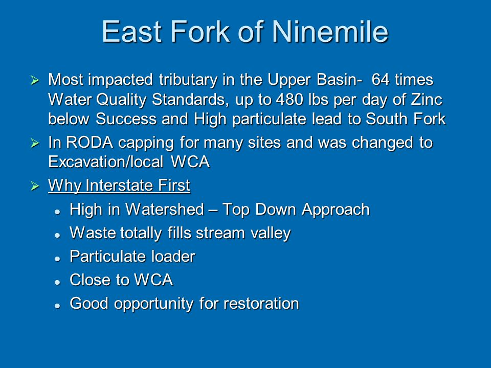 East Fork of Ninemile