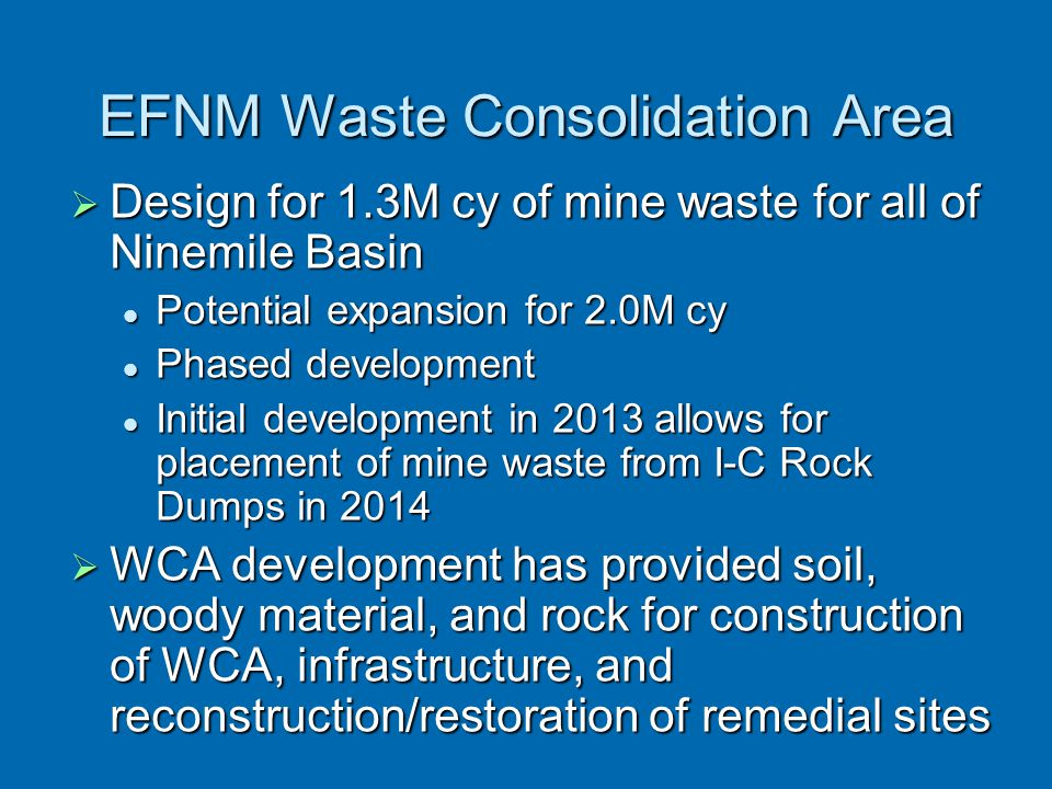 EFNM Waste Consolidation Area