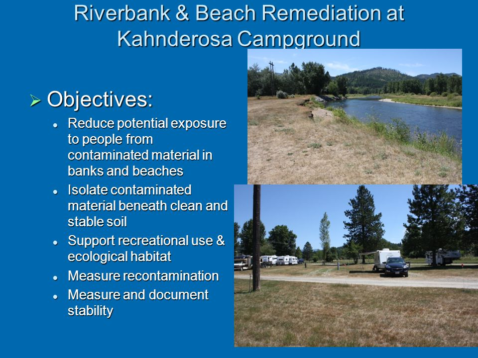 Riverbank & Beach Remediation at Kahnderosa Campground
