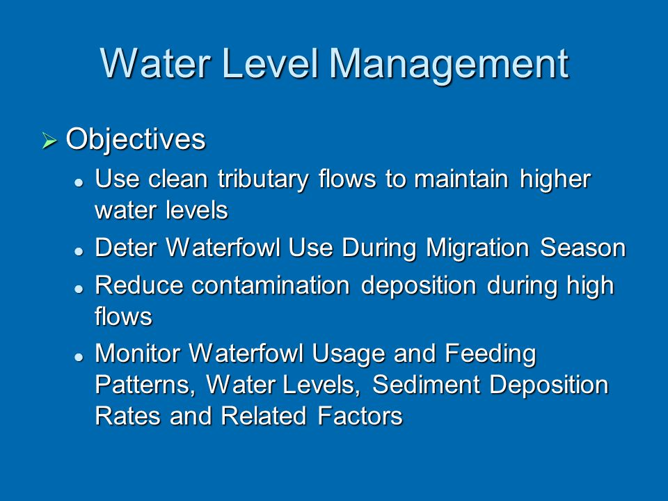Water Level Management
