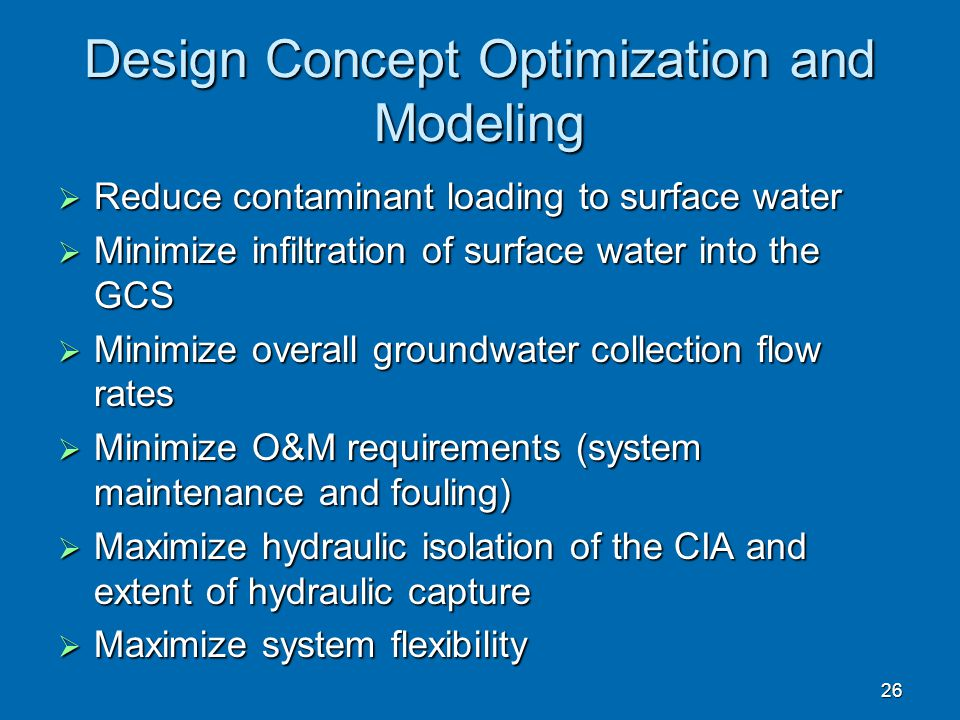 Design Concept Optimization and Modeling