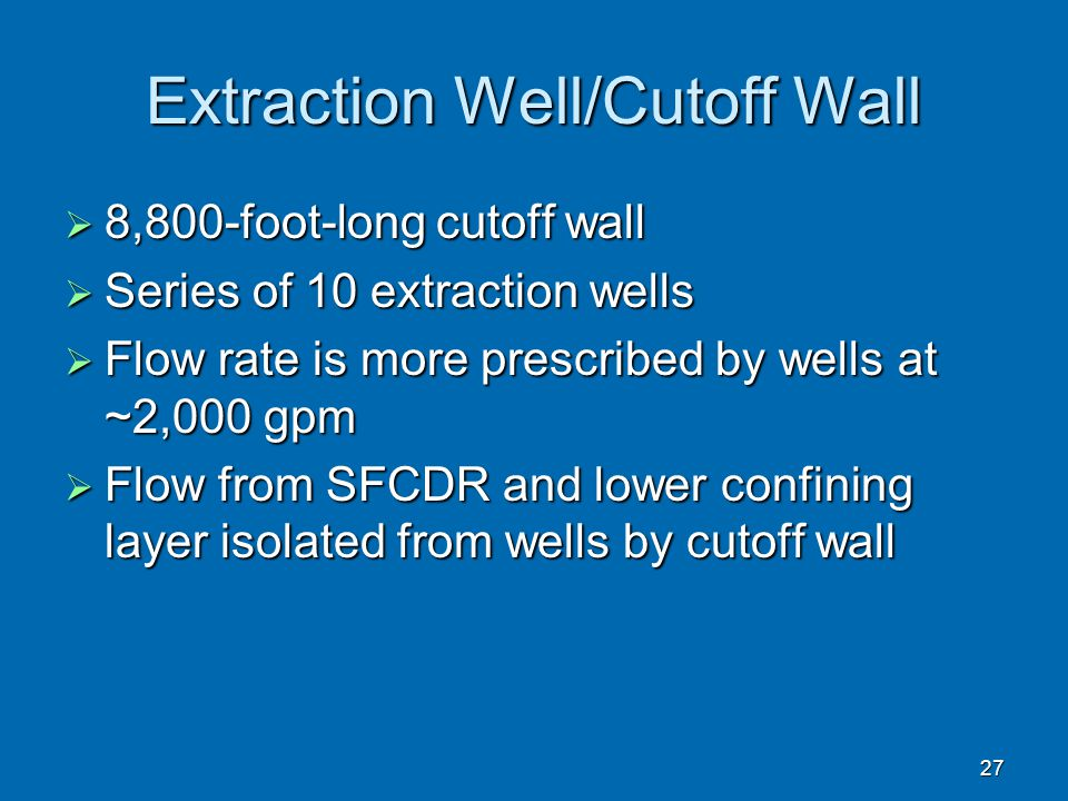 Extraction Well/Cutoff Wall