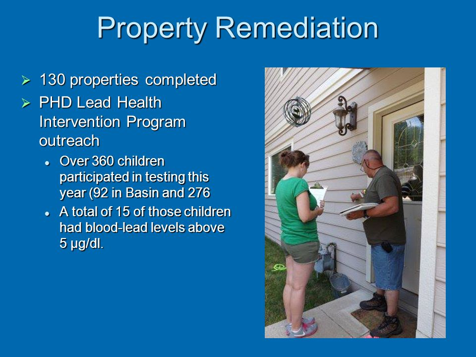Property Remediation 130 properties completed