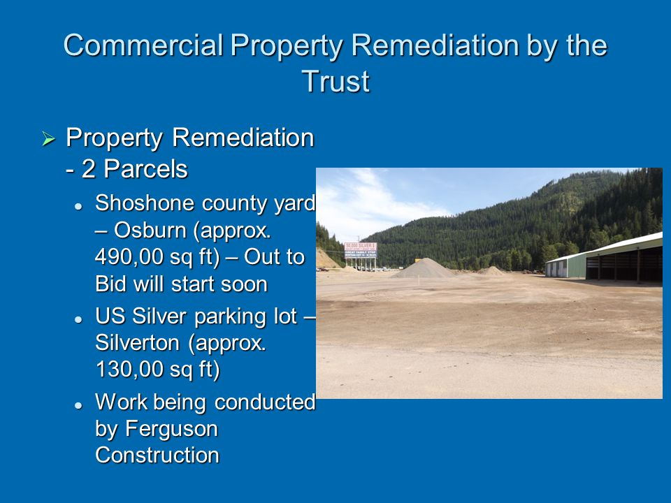 Commercial Property Remediation by the Trust