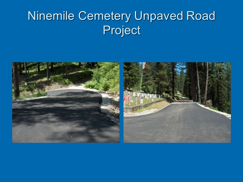 Ninemile Cemetery Unpaved Road Project