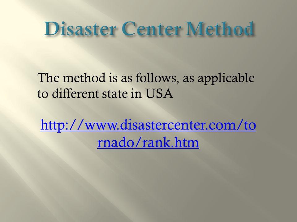 Disaster Center Method