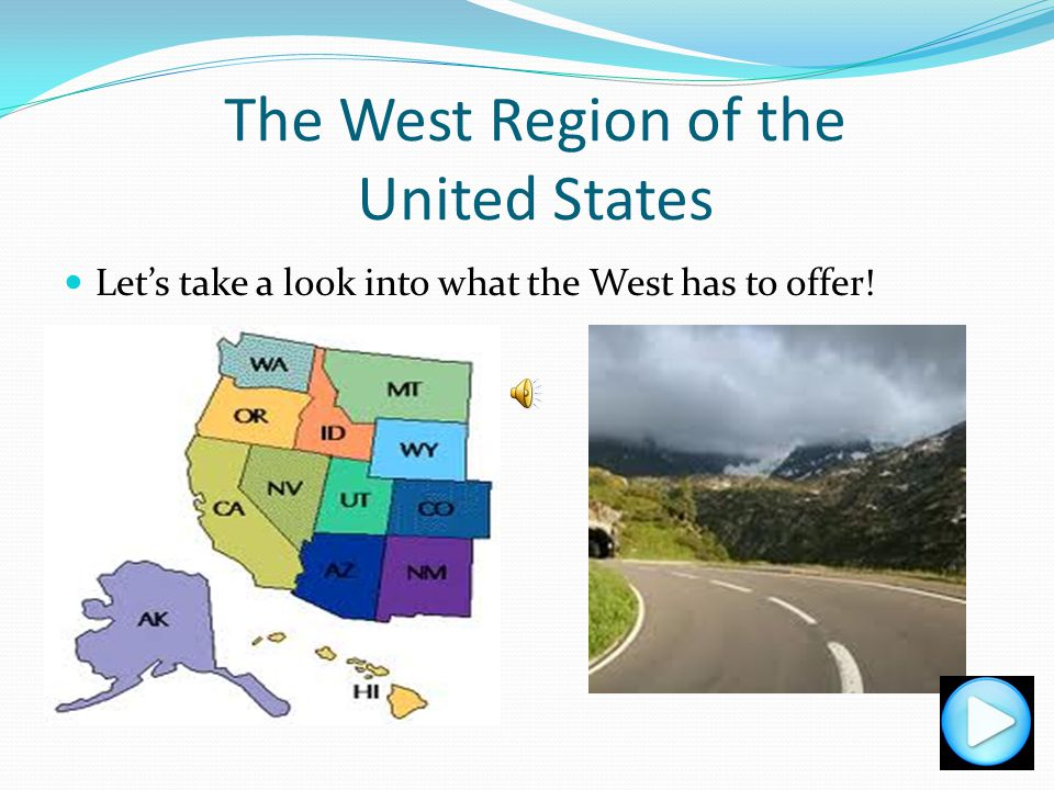 The West Region of the United States