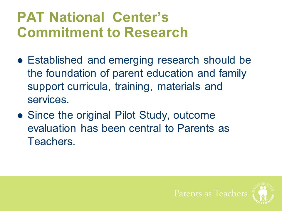 PAT National Center's Commitment to Research