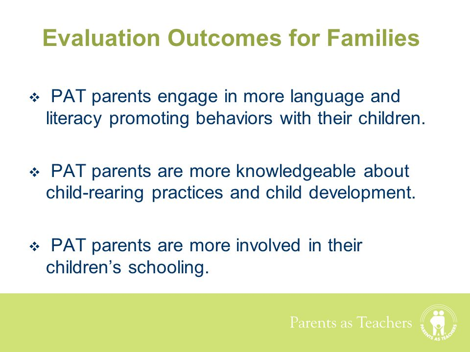Evaluation Outcomes for Families